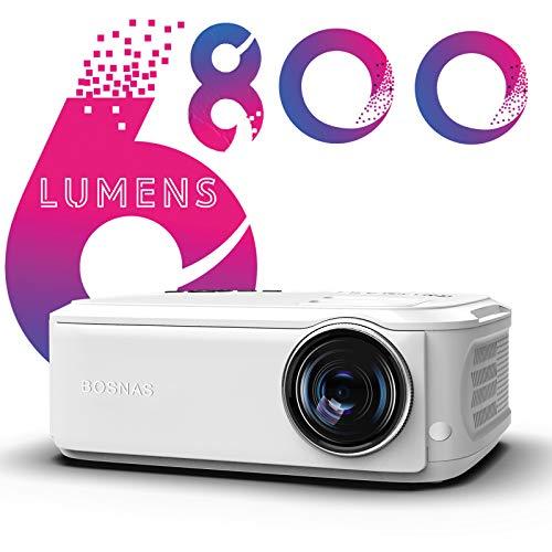 Beamer, Native 1080p Beamer Full HD, 300'' LED Beamer Heimkino Unterstützt HiFi-Sound HDMI USB TV Stick Xbox Laptop, iOS/Android Smartphone Video Projektor