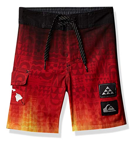 Quiksilver Boys' Boardshorts, HIGH Risk RED, 6
