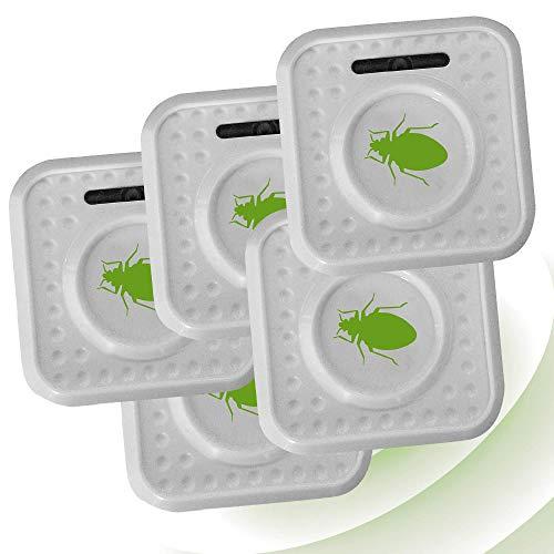 ISOTRONIC Ahuyentador de ácaros e insectos con ultrasonidos | Elimina ácaros e insectos del colchón con ultrasonidos | Repelente ultrasónico de ácaros / chinches de cama / insectos | Set de 5