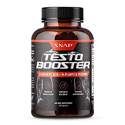 Snap Testosterone Booster for Men - Promotes Muscle Growth, Booster for Men Sexual Drive, Enhancing Natural Energy, Stamina & Strength - Horny Goat Weed, Tongkat Ali + Other Power Vitamins