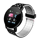 Touch Screen Smart Watch Sports IP67 Waterproof Heart Rate Sleep Monitor Watches Bracelet, for iOS/Android (Black Gray)
