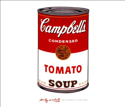Beyond The Wall Andy Warhol Campbells Soup I Tomato Celebrity Art Poster Druck (28 x 35 cm, ungerahmt)