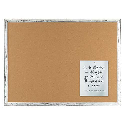 Cork Bulletin Board, 36 x 48 Inches, White Framed Corkboard Bulletin Pin Board, 4'x3'