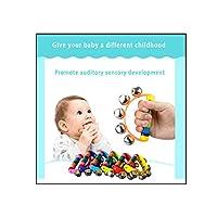 子供の教育用おもちゃ、楽器、初期教育用楽器、半円形のハンドベル、最初のおもちゃ、人気のおもちゃ、教育用、3か月、6か月、10か月、0年、1年、2歳の赤ちゃん、生まれたばかりの男の子と女の子、誕生日のお祝いのクリスマスプレゼント (D)