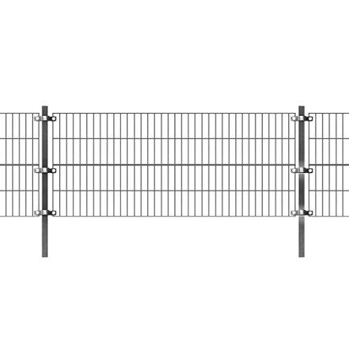 Festnight Panel de Valla de Jardin Metalica 6 x 0.8 m