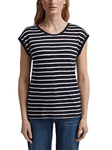 ESPRIT Gestreiftes Shirt aus Bio-Baumwoll-Mix