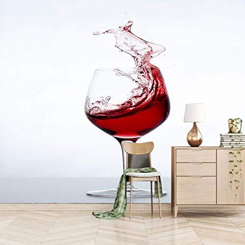 HDEOFR Fotomurales 3D Copa De Vino Creativa Papel Pintado Decoración De Pared Arte Decorativos Murales Moderna De Diseno Sala De Estar Dormitorio Decoración De Oficina 400X280cm