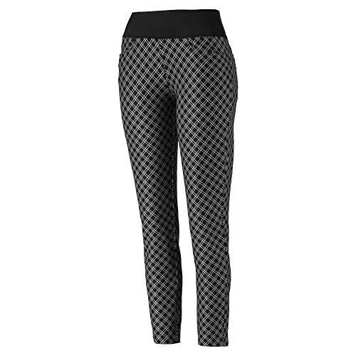 PUMA Damen 2019 Pwrshape Karo-Hose, Damen, Hosen, 2019 Pwrshape Checker Pant, Puma Black, Large