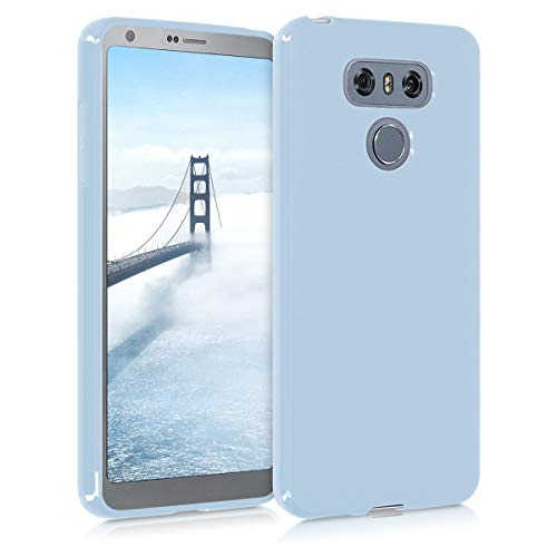 kwmobile TPU Case Compatible with LG G6 - Case Soft Slim Smooth Flexible Protective Phone Cover - Light Blue Matte