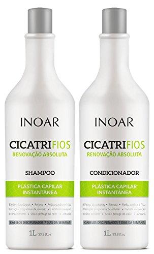 Kit Shampoo e Condicionador CicatriFios Plástica Capilar, Inoar, 1L