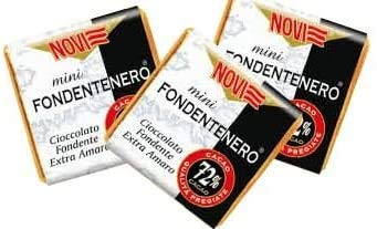 NOVI Mini Tavoletta SENZA GLUTINE- BS. 1KG. (180 PZ.CIRCA) (FONDENTENERO 72%)