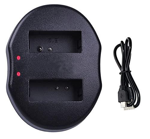 HANXIAOLONGA Cargador de batería LP-E8 para cámara réflex Digital Canon EOS Rebel T2i, T3i, T4i, T5i y EOS 550D, EOS 600D, 650D, 700D (Color : 1x USB Dual Charger)