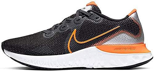 Nike Herren Renew Run Laufschuh, Schwarz/Total Orange-Teilchen Grau-Weiß, 45 EU