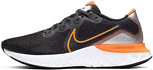 Nike Men's Race Running Shoe, Black Total Orange Particle Gray White, Womens 10