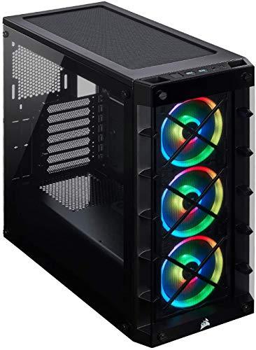 Corsair Crystal 570X RGB - Caja de PC, Mid-Tower ATX, ventana lateral cristal templado con ventilador, iluminación RGB LED, Blanco,Negro,iCUE 465X RGB