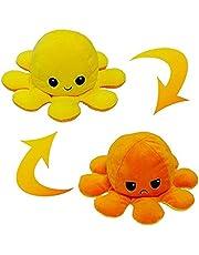 Eholder Peluche Poulpe Reversible,Pieuvre Mignonne en Peluche Jouets The Octopus Poulpe pour Enfants Famille,Amis