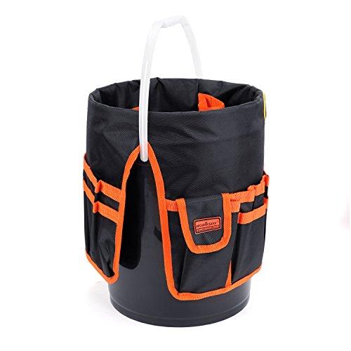 HORUSDY Bucket Tool Organizer, for 5 Gallon Bucket, 1680D Polyester, Waterproof & Durable