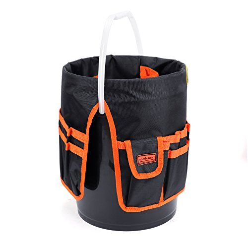 HORUSDY Bucket Tool Organizer, for 5 Gallon Bucket, 1680D Polyester, Waterproof & Durable