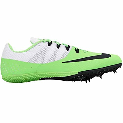 Nike 806554-300 Zoom Rival S8 White Green Track Sprint Spikes Mens Sz 8.5