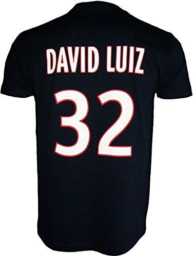 PARIS SAINT-GERMAIN T-Shirt PSG - David Luiz - N°32 - Collection Officielle Taille Adulte Homme S