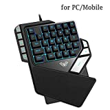 Advanced One Handed Gaming Keyboard   38 Keys   One Handed Keyboard   Gaming keypad   RGB LED Backlit, for PC/Mobile