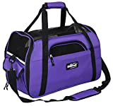 EliteField Soft Sided Pet Carrier (3 Year Warranty, Airline Approved), Multiple Sizes and Colors Available (Large: 19' L x 10' W x 13' H, Purple)