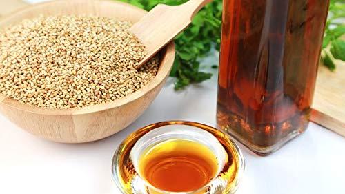 Aceite de sésamo orgánico filtrado y desodorizado 5000 ml - con dispensador Aceite de masaje,...