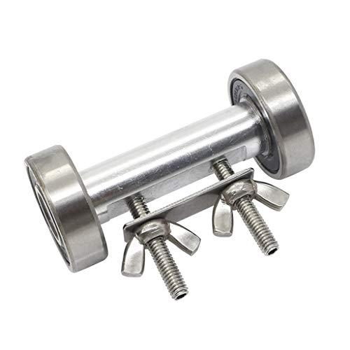 QERMULA Afilador de ángulo Fijo de sujeción Lateral, Herramienta de guía de bruñido, Cuchillo de Talla de Aluminio, afilador de ángulo Fijo Plateado