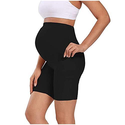 KEXIJIA Yogabroek voor dames, sport, yogabroek, vrouwen, hoge taille, stretch, skinny sportbroek, zweetbroek voor vrouwen, mini yoga, fitness, sport, hoge taille, slanke mode, zwangerschapsbroek, zwart, L