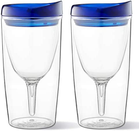 Vino2Go 10 oz Wine Glass Tumbler 2 Pack Unbreakable Tritan Material Double Wall Insulated with product image