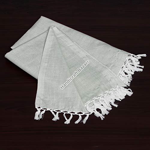 Handicraft Bazarr Colcha de algodón antiguo para cama de algodón con telar de mano y fundas de cama de algodón vintage de tacto suave de algodón para el cuerpo, colcha de verano de 150 x 222 cm