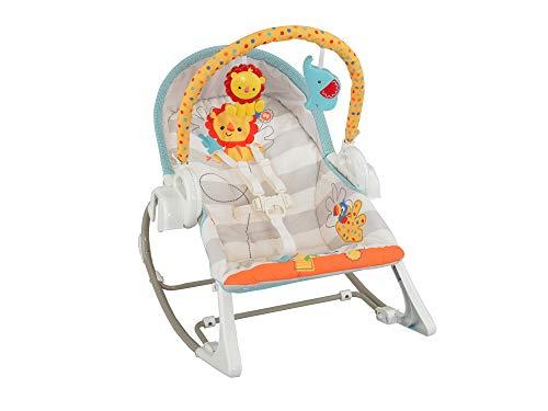 Fisher-Price Baby Gear - Altalena 3-in-1 Cuccioli della Natura a 6 velocità, con 16 Melodie, Suoni della Natura Rilassanti e 1 Arco Giochi Removibile, BFH07