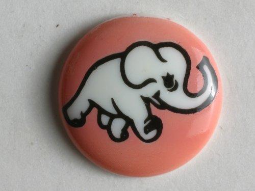 Dill® Kinderknopf - Elefant, Größe: 15mm - Farbe: pink