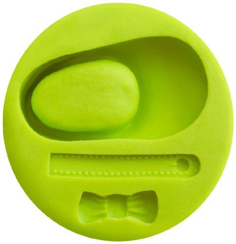 IBILI Fondant-3D-Backform Baby-Schuh, Silikon, grün, 5.7 x 5.7 x 5.7 cm