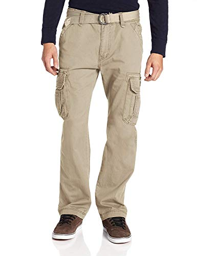 UNIONBAY Men_s Survivor Iv Relaxed Fit Cargo Pant - Reg and Big and Tall Sizes, Desert, 34x32.