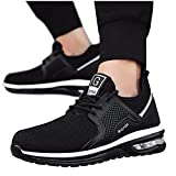 Dasongff Sicherheitsschuhe Herren, Arbeitsschuhe Herren Damen Leicht Atmungsaktiv Sportlich Schutzschuhe Stahlkappe Schuhe Anti-Smashing Anti-Piercing Sommer Outdoor Walkingschuhe