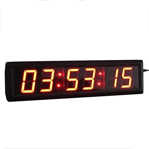 Cuenta Atrás Digital LED Reloj 2,3 Pulgadas Reloj De Pared Temporizador De Intervalo Con La Función De Control Remoto, Conveniente For El Hogar Y La Oficina (color: Negro, Tamaño: 37.5X10X4CM) YAOHONG
