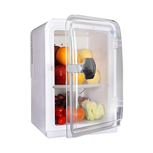 LYLSXY Coche Mini Refrigerador, Mini Refrigerador para Home Car, Calefacción Y Refrigeración Refrigeradores Compact Surdep Capacity Diseño de la Puerta Transparente para la Barbacoa Al Aire Libre, Us