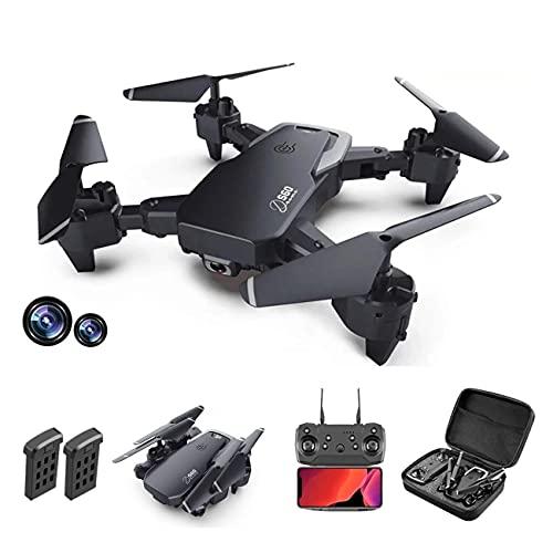 Mini drone pieghevole con videocamera 4K HD FPV Wifi RC Quadricottero, controllo gestuale, volo traiettoria, volo circolare, rotazione ad alta velocità, capovolgimenti 3D, sensore G, modalità senza