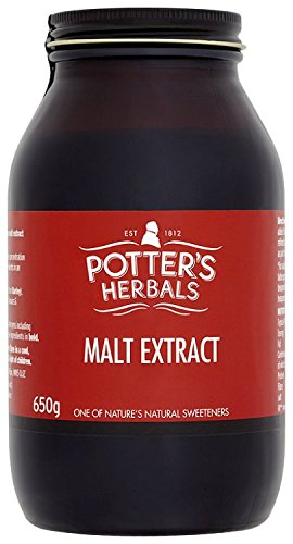 Potter's Herbals Malt Extract | 650 g Jar of Barley Extract | Traditional, Nutritious and Versatile Can Be Taken By The Spoonful As Part of A Balanced Diet and Healthy Lifestyle