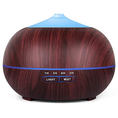 Tenswall Aroma Diffuser, Luftbefeuchter Ultraschall Wasserlose automatische Abschaltung,7-Farben-LED, geeignet für Schlafzimmer, Büro, Spa-Raum- BPA frei