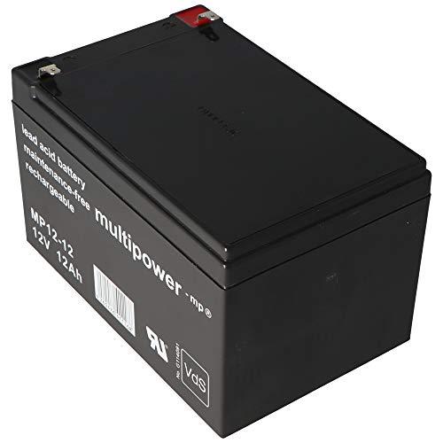 Multipower Bleiakku MP12-12 (12V / 12Ah), wartungsfrei , VDS Zulassung