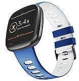 KINOEHOO Correas para relojes Compatible con Fitbit versa 3/sense Pulseras de repuesto.Correas para ...