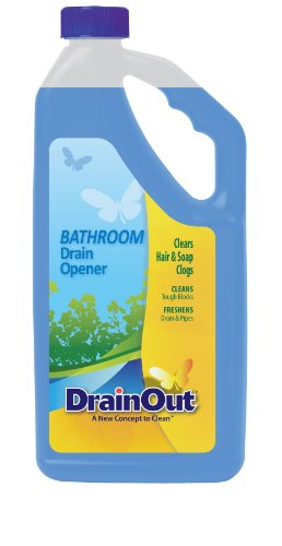 Drain OUT Bathroom Drain Cleaner, Hair & Soap Scum Clog Remover, Drain Opener, Toilet Clog Remover, 32 Ounce