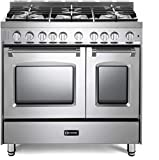 Verona Prestige Series VPFSGG365DSS 36 inch All Gas Range 5 Sealed Burners Double Oven Turbo Convection...