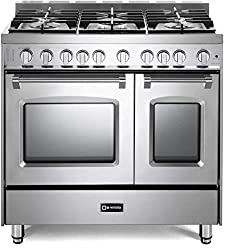 cheap Verona Prestige Series VPF SGG365DSS 36 inch 5 sealed burner for all types of gas Double furnace turbo…