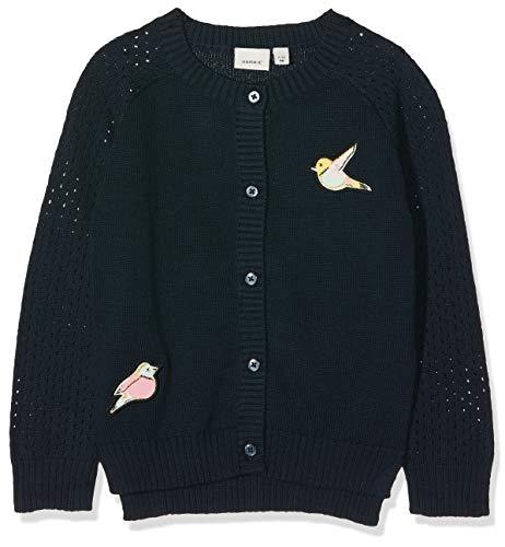 Name It Nmftasse Ls Knit Card T-Shirt À Manches Longues, Bleu, 104 (Taille Fabricant:) Bébé Fille