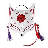 CHICTRY Unisex Fuchs Maske Tiermaske mit Quasten und Glöckchen Japanische Fox Masken Kostüm...