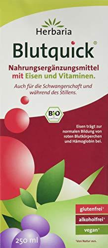 Herbaria Blutquick kbA* 250 ml, 1er Pack (1 x 250 ml) - Bio