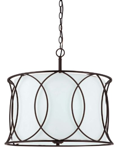 Canarm ICH320A03ORB20 Monica 3-Light Chandelier, 20.5  x 20.5  x 17.5 , Oil Rubbed Bronze